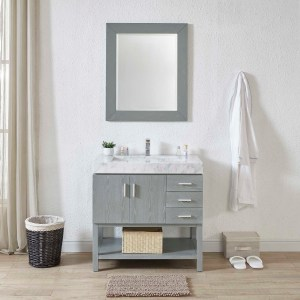 36 ellana single vanity with vanity drawers and a vanity top in riverside county