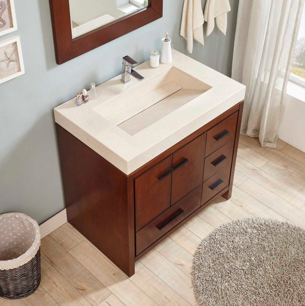 single modern vanity for bathroom riverside
