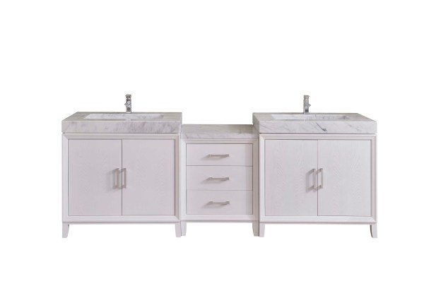 riverside county 96 inch double mega vanity with extra storage