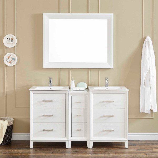 contemporary double vanity riverside county 60 inch vanity