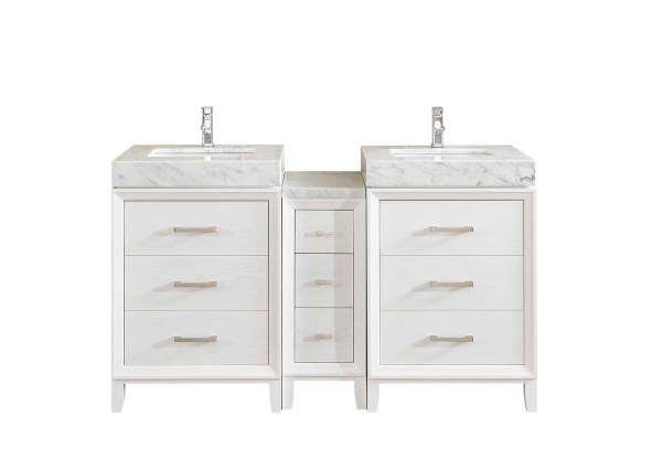 double sink vanity with wide line undermount sink riverside