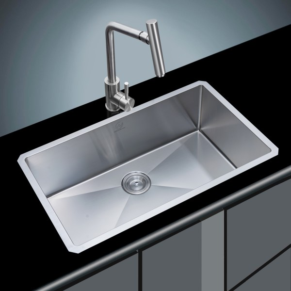 sleek and modern stainless steel sink with beer tap nozzle rancho mirage, ca