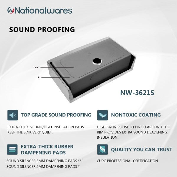 sound proofing sink insullation pads riverside sink pads