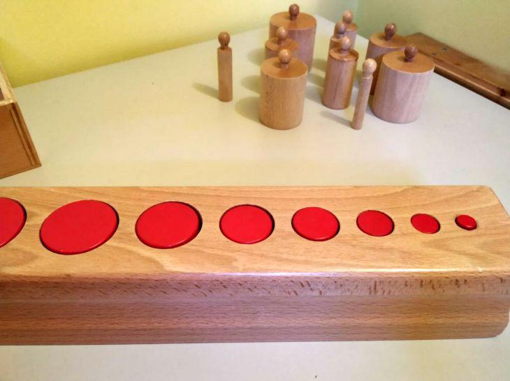 Cilindrii roşii în blocul cilindrilor incastru