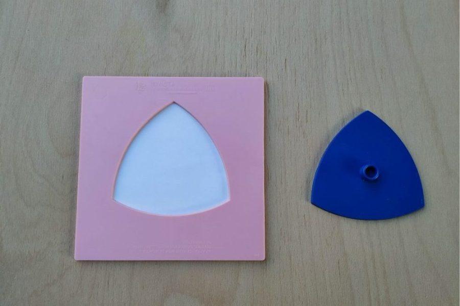 Inserturile geometrice - triunghi curbiliniu