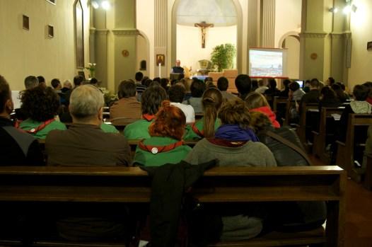 Foto della Veglia per le vittime dell'omofobia e di tutte le discriminazioni tenuta nella parrocchia Madonna della tosse di Firenze il 16 marzo 2013