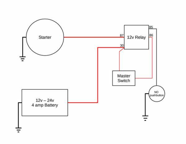 push button battery isolator wiring diagram