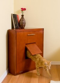 The Corner Litter Cabinet Is About As Refined As A Litter ...