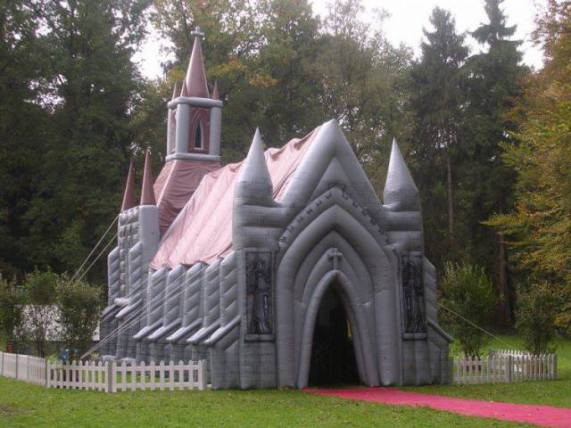 Want A Cute And Cozy Wedding Chapel Rent An Inflatable One
