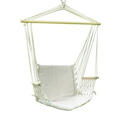 Tree Hanging Hammock Chair Desk Store Near Me Adeco 20 Wide Seat Cotton Canvas White