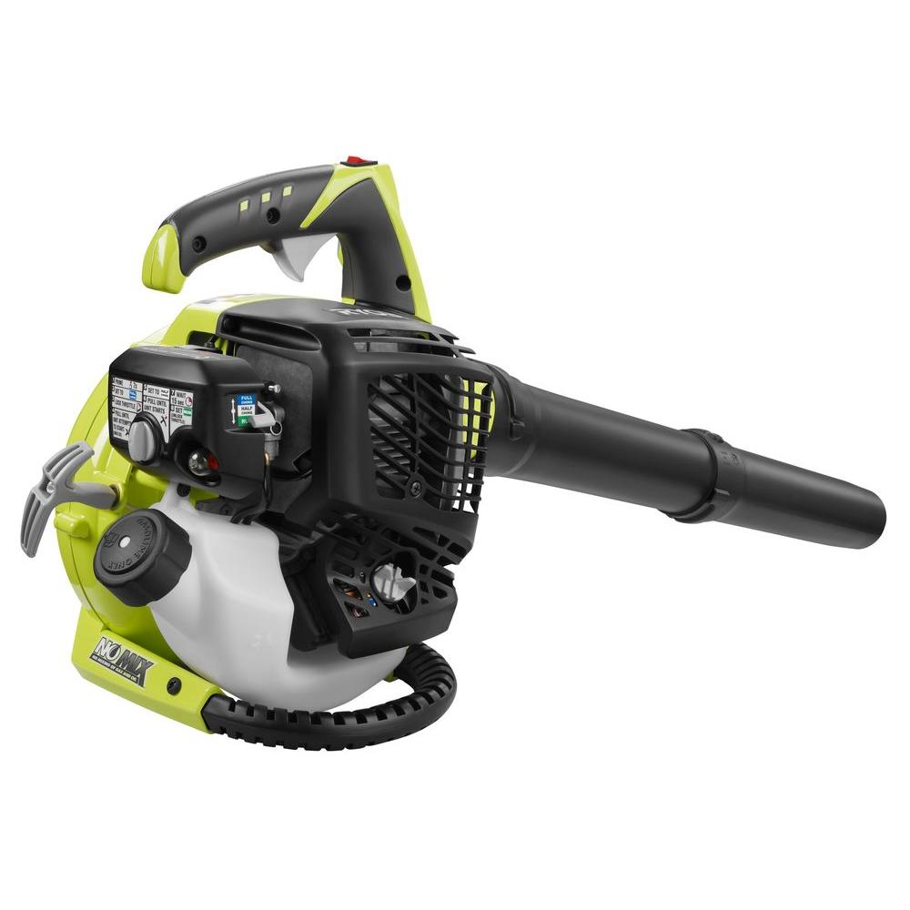 ryobi 155 mph 400 cfm 30cc 4 cycle gas handheld leaf blower [ 1000 x 1000 Pixel ]