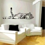 Qinu Keonu Animal Wild Zoo Lying Tail Up Tiger Wall Decal Sticker Black Check Back Soon
