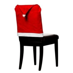 Christmas Chair Covers White Kitchen Seat Replacement Imperial Home 4 Pc 17 X17 Santa Hat Red