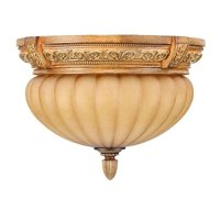 Hampton Bay Chateau Deville 2-Light Flushmount Ceiling ...