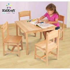 Kidkraft Farmhouse Table And Chair Set Espresso Black Covers With White Bows Wood Check Back