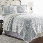 Pacific Coast Textiles 3piece Faux Fur Comforter Set Gray Size Full Q Check Back Soon Blinq