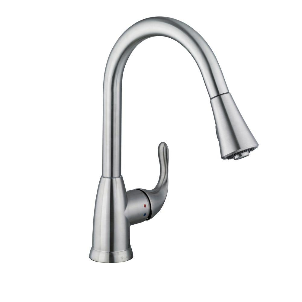 delta izak kitchen faucet touchless single handle pull down sprayer stainless steel