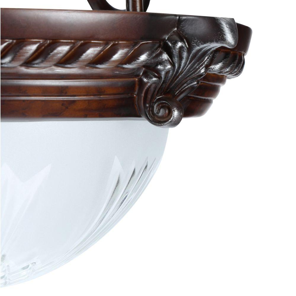 Hampton Bay Bercello Estates 2light Volterra Bronze Semi-flush Mount Light - Check Blinq