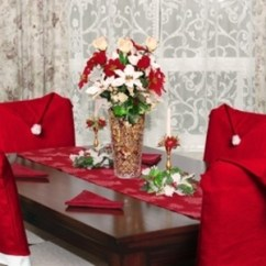 Christmas Chair Covers White Ergonomic Jewelers Imperial Home 4 Pc 17 X17 Santa Hat Red