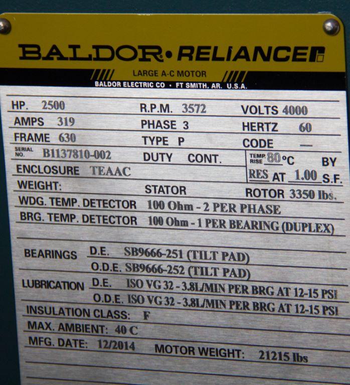 Baldor Motor Date Code