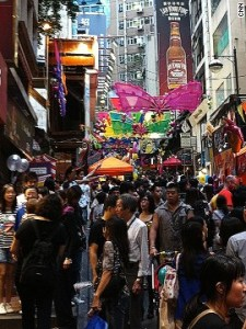 It's not even dark and the place is already hopping. Hong Kong's Lan Kwai Fong area crams more than 100 bars, restaurants, clubs and shops into just a few short streets.