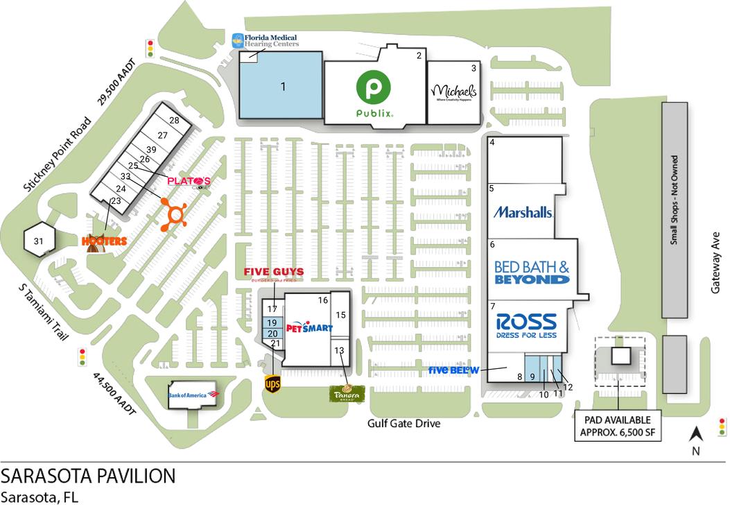 Sarasota Fl Sarasota Pavilion  Retail Space  Inventrust