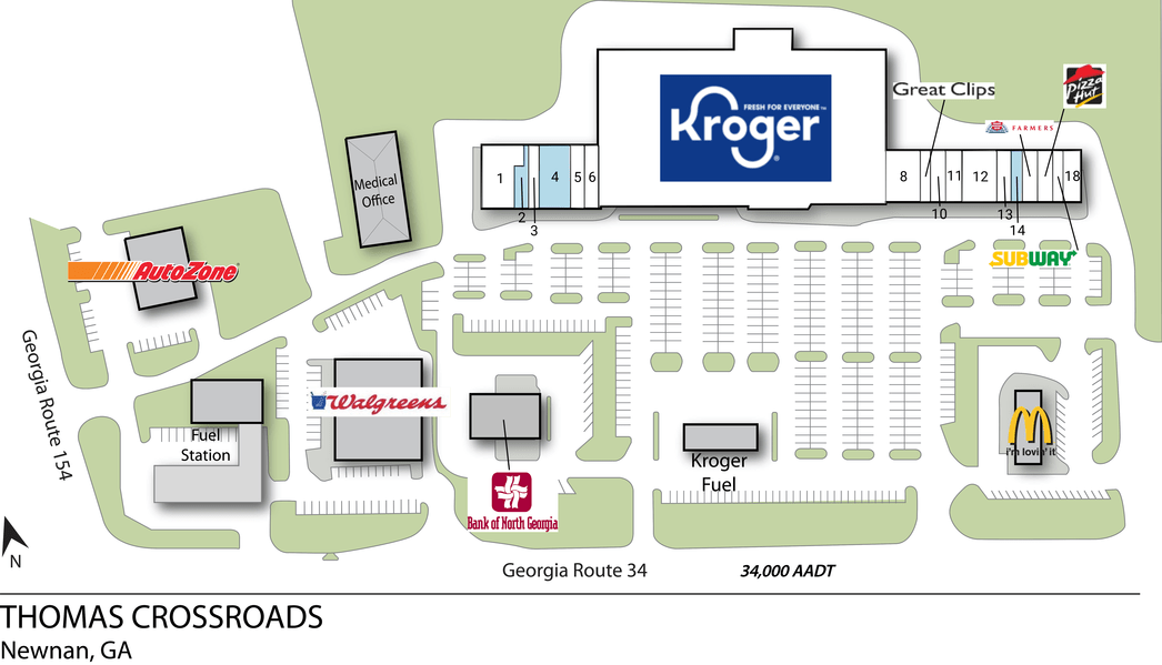 Newnan Ga Thomas Crossroads  Retail Space  Inventrust