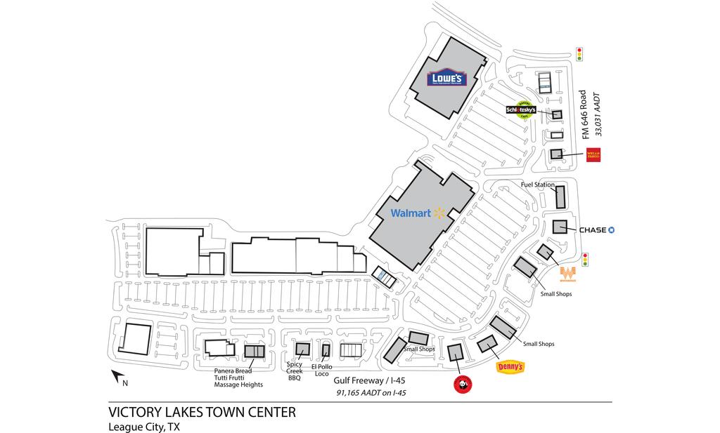League City Tx Victory Lakes Town Center  Retail Space