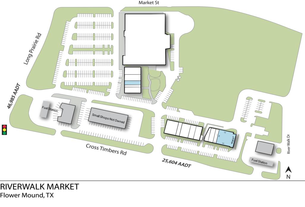 Flower Mound Tx Riverwalk Market  Retail Space  Inventrust