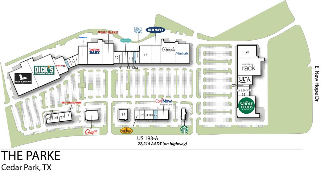 Cedar Park Tx The Parke  Retail Space  Inventrust