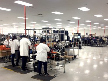 Flexible work cells are configured for assembly of Inventus Power's U1LiFe Series of Medical Cart Batteries