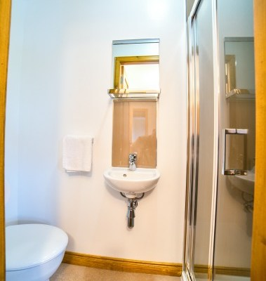 Typical ensuite facilities - this one is for a double room and has a double size shower
