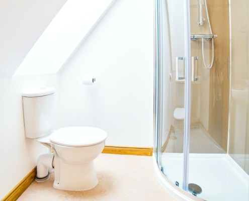 Typical ensuite facilities - this one is for a double room