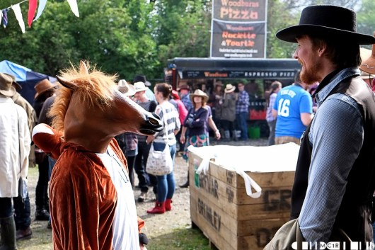 You heard the one about the sheriff who said to the horse, why the long face?