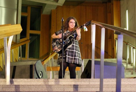 Amy Louise Rogers at Holyrood Rocks Final 31/10/2015