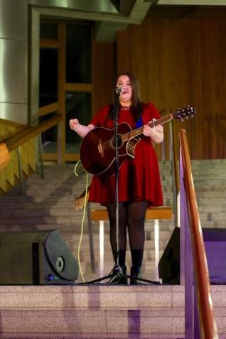 Hayley Miller at Holyrood Rocks Final 31/10/2015
