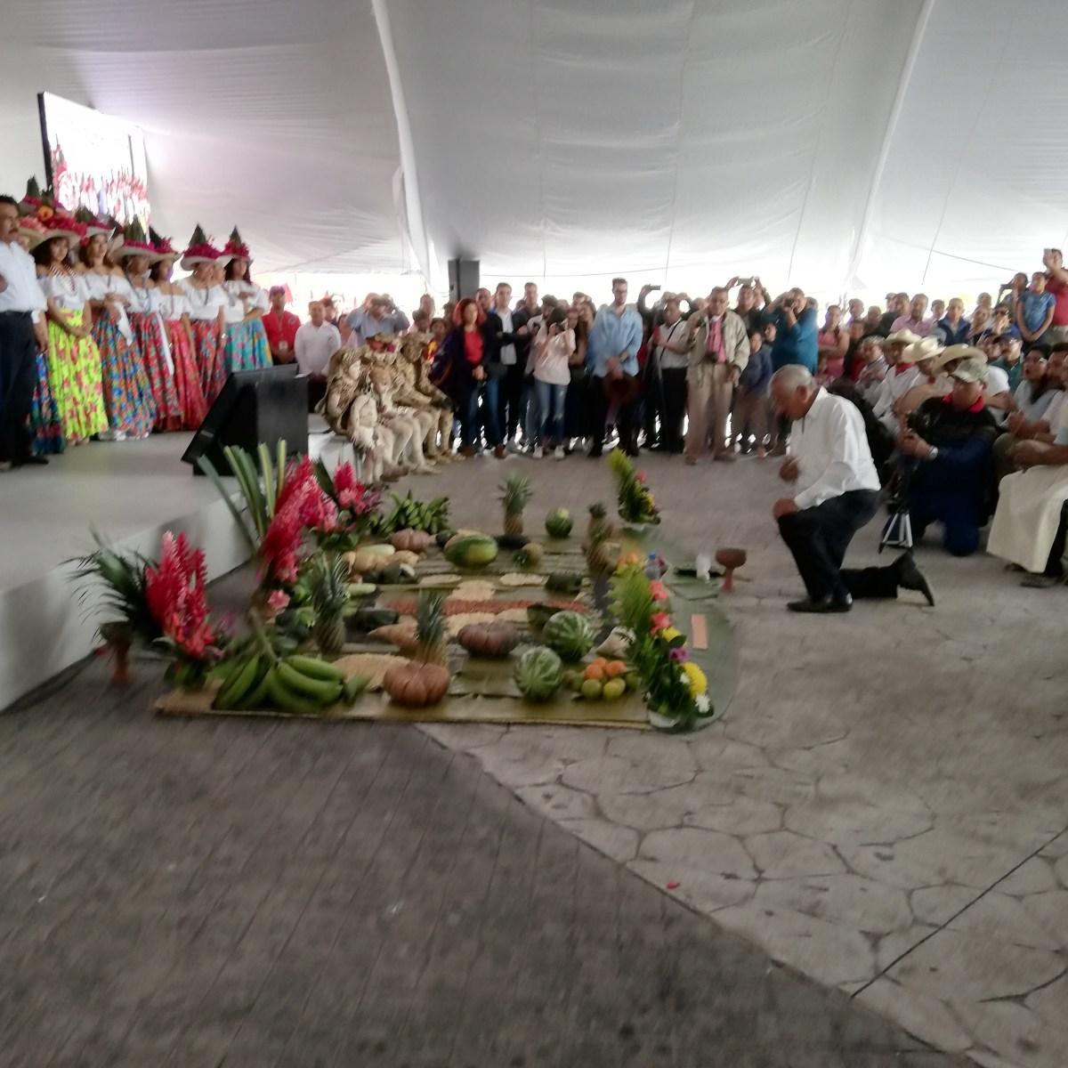 Pueblos Originarios rinden Ritual para inicio del Tren Maya