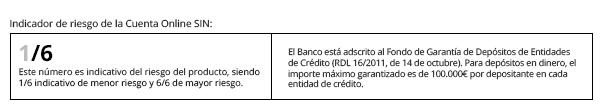 indicador riesgo cuenta liberbank