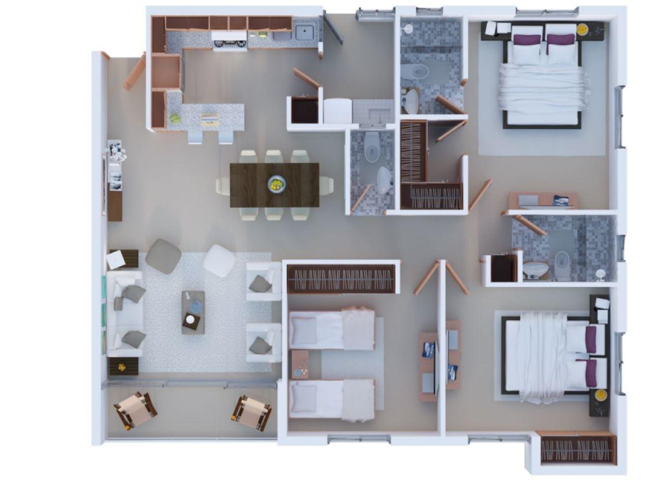 RESIDENCIAL CIPRES Los Alamos, Santiago Apartamentos 118 MTS2