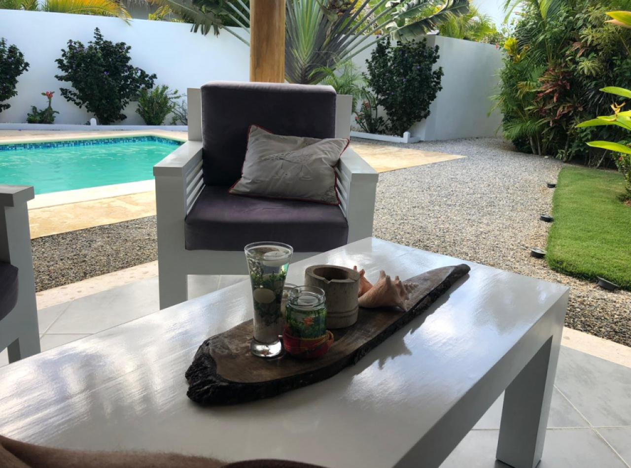 Villa en Las Terrenas, Samaná con 2 Habitaciones y Piscina