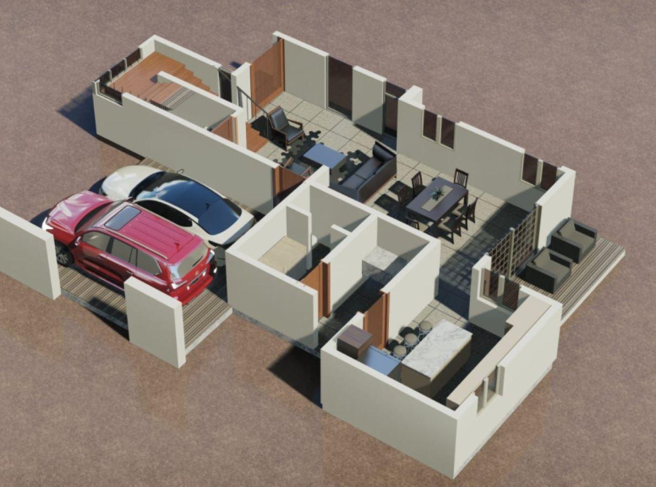 Lujosa y Confortable Casa de Dos Niveles en Proyecto Cerrado