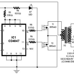 1000 Watt Inverter Circuit Diagram 6 Pin Ignition Switch Wiring 100w With Irf540 - And Products