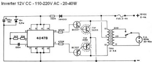 40W Inverter Circuit Diagram  Inverter Circuit and Products