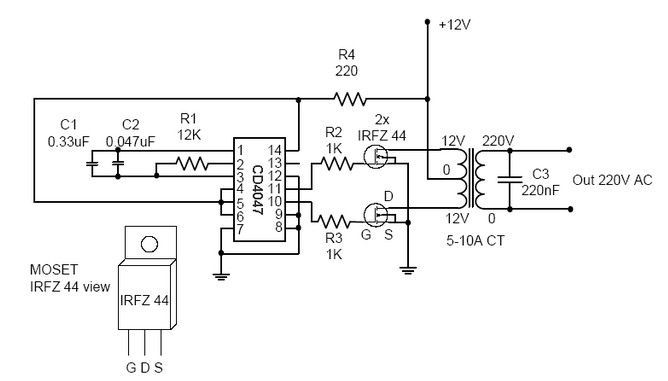 dc to ac converter simple but powerfull
