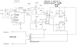 Low cost inverter circuit