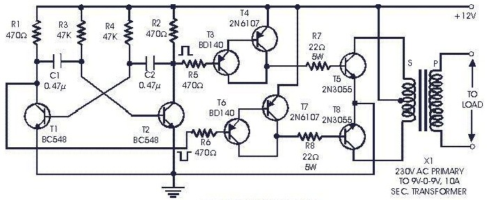 60 Watts Inverter Circuit - Inverter Circuit and Products on