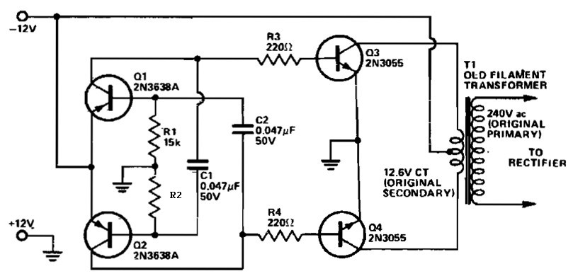 12 VDC to 240 VAC Inverter  Inverter Circuit and Products