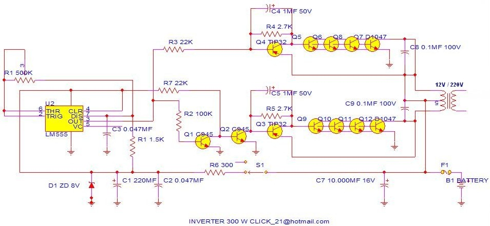 300w Power Inverter Circuit