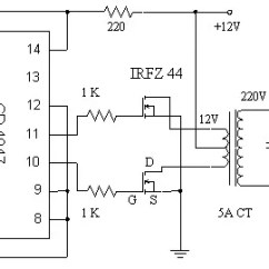 2000w Power Amplifier Circuit Diagram Advantages Of Stem And Leaf 12v To 220v Inverter Based Mosfet Irfz44 - Products