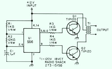 Low power inverter scheme TIP120